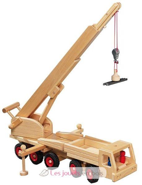 lastwagen kran fagus ein fahrzeug der baustelle aus holz das spielzeug lastwagen kran fa. Black Bedroom Furniture Sets. Home Design Ideas