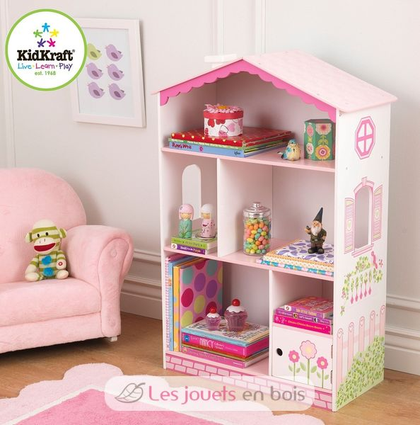 b cherregal puppenhaus kidkraft 14604 ein holzm bel f r. Black Bedroom Furniture Sets. Home Design Ideas